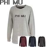 Phi Mu // Poodle Fleece Embroidered Crewneck