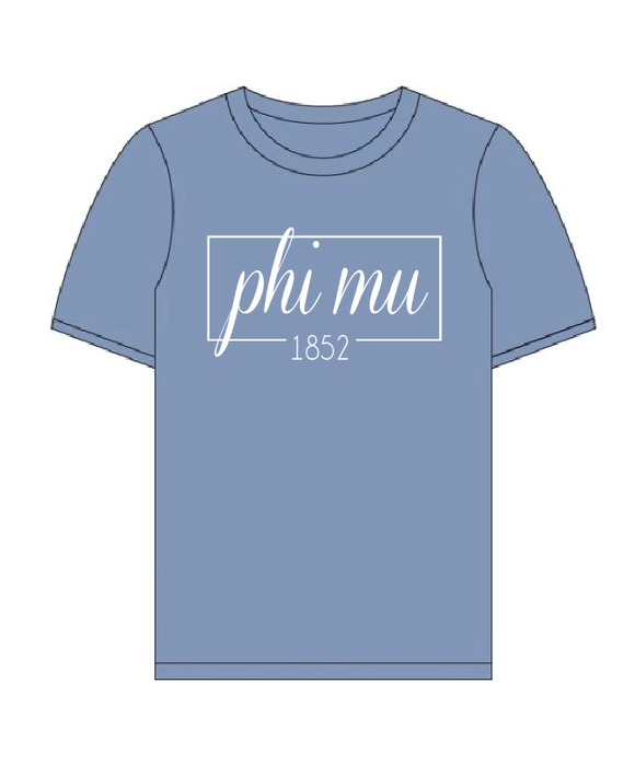 Phi Mu // Comfort Color Short sleeve (Coneria) T-shirt