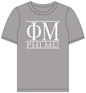Phi Mu // Short Sleeve (Greek Letters) T-Shirt