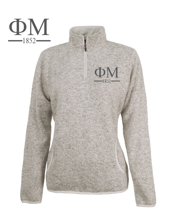 Phi Mu // Charles River Heather Fleece Pullover