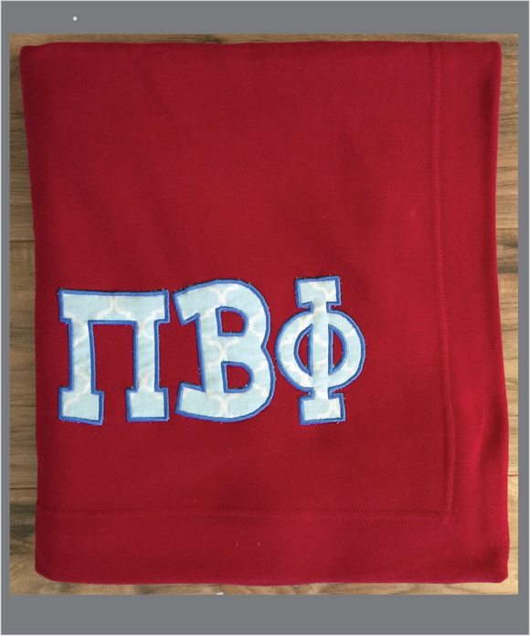 Pi Phi Sorority Sweatshirt Fleece Blanket
