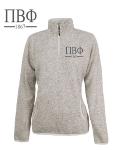 Pi Beta Phi // Charles River Heather Fleece Pullover