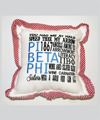 Pi Phi Embroidered Pillow