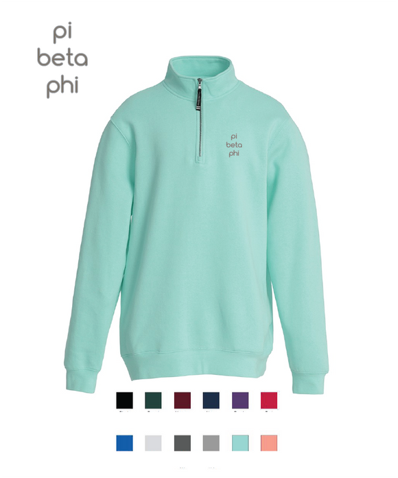 Pi Beta Phi // Embroidered Charles River Crosswinds Fleece Quarter Zip Jacket