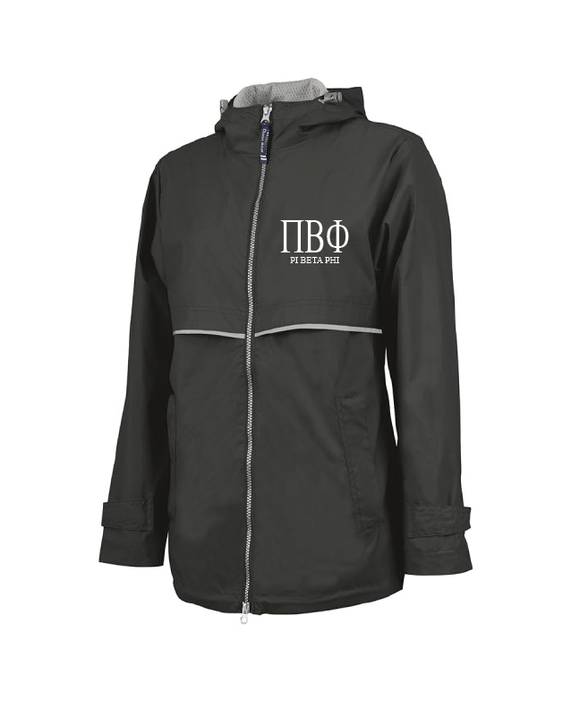 Pi Beta Phi // Charles River Full Zip Rain Jacket (New Englander)