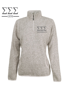 Sigma Sigma Sigma // Charles River Heather Fleece Pullover