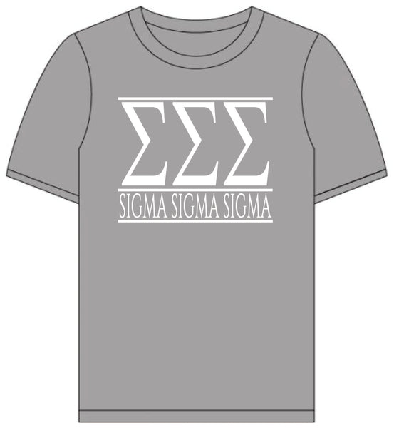 Sigma Sigma Sigma // Short Sleeve (Greek Letters) T-Shirt