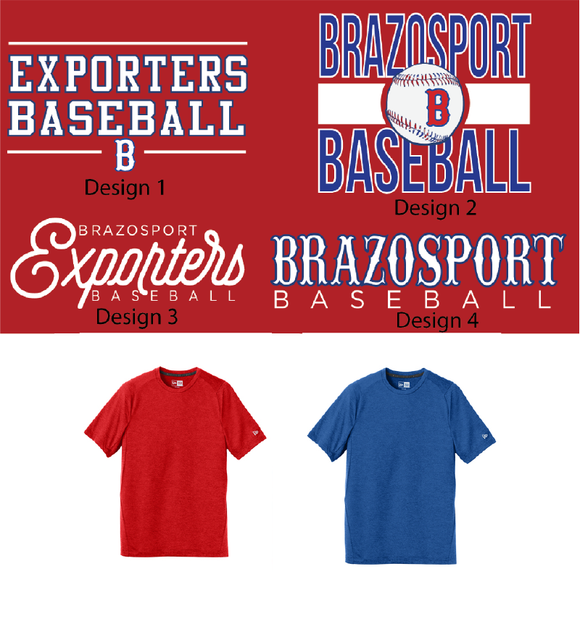 BPORT BASEBALL - Short Sleeve New Era Dri Fit - Adult Only