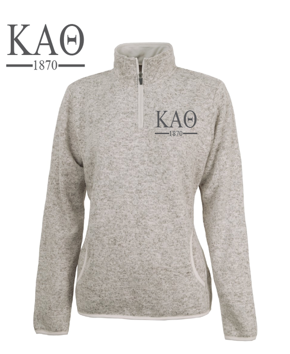 Kappa Alpha Theta // Charles River Heather Fleece Pullover