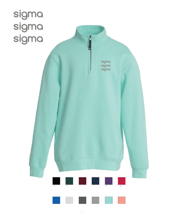 Sigma Sigma Sigma // Embroidered Charles River Crosswinds Fleece Zip Jacket
