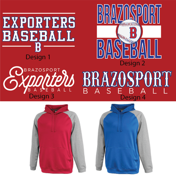 BPORT BASEBALL - Two Tone Hoodie - Youth and Adult