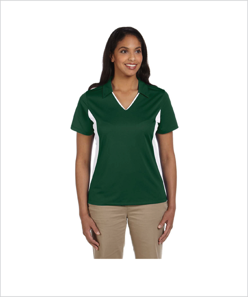 Silver Stirrups Short Sleeve Womens Polo