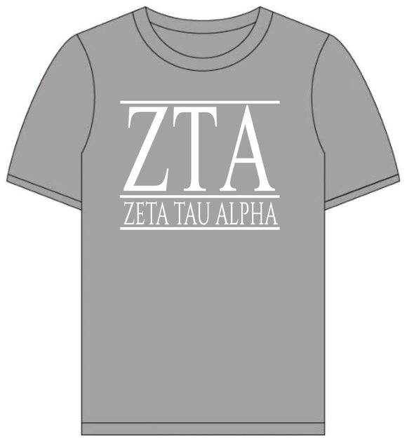 Zeta Tau Alpha // Short Sleeve (Greek Letters) T-Shirt