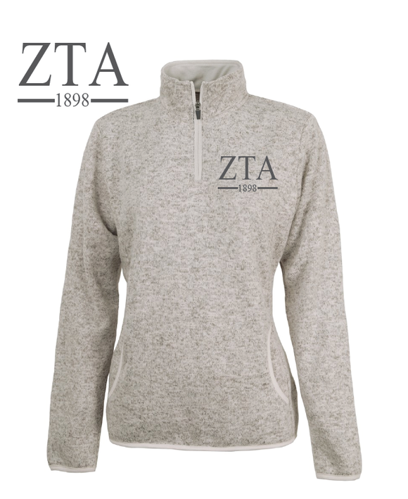 Zeta Tau Alpha // Charles River Heather Fleece Pullover