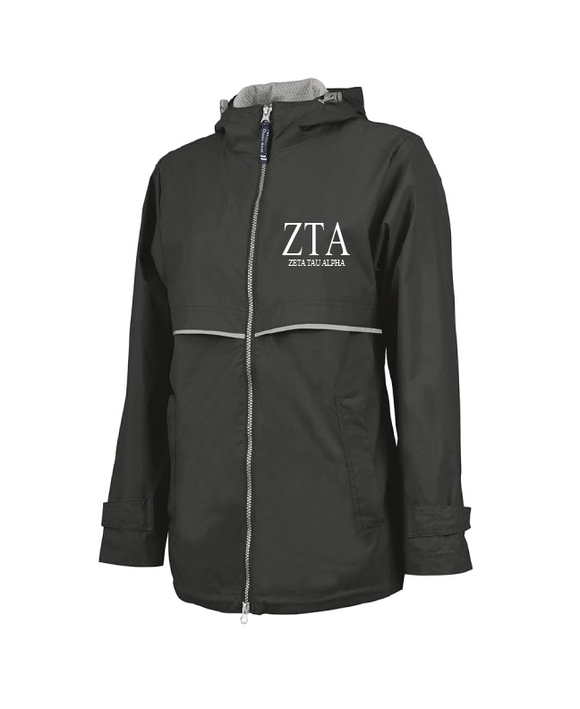 Zeta Tau Alpha // Charles River Full Zip Rain Jacket (New Englander)
