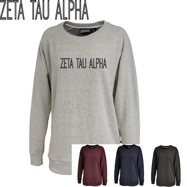 Zeta Tau Alpha // Poodle Fleece Embroidered Crewneck