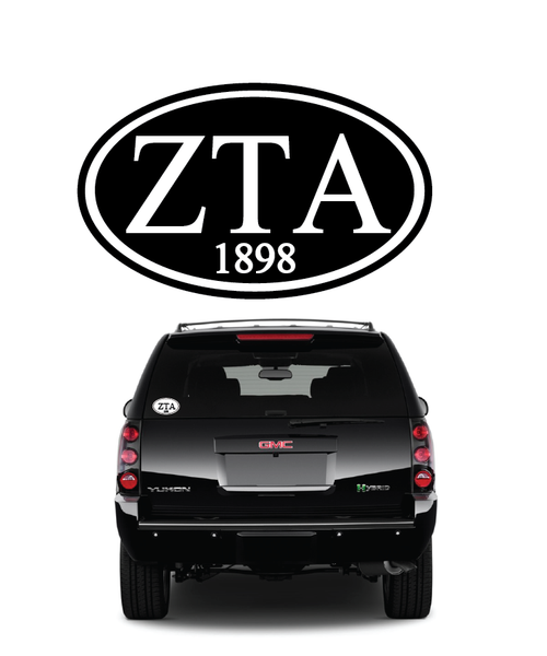 Zeta Tau Alpha // Window Decal (Oval)