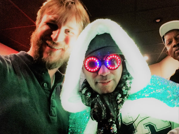 Kool Keith and Jason Balcauski, Co-founder of Austin Bright Light Design