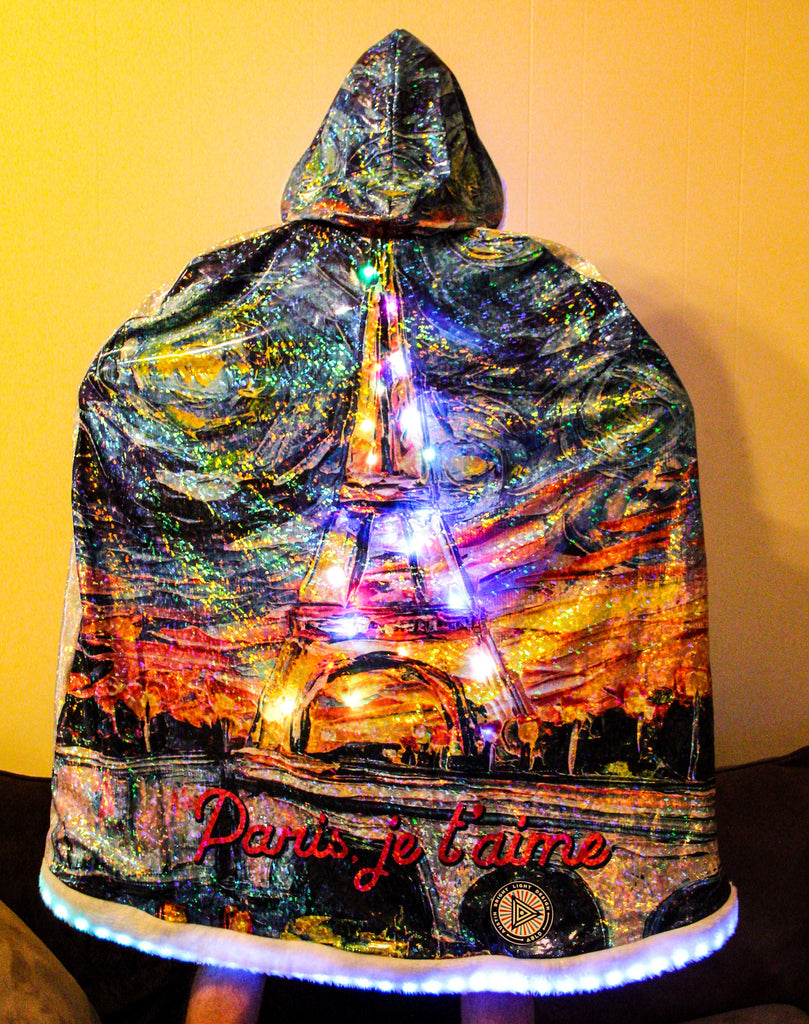 ABLD Firefly Eiffel Tower Cloak Lit Up - Photo by James Simmons