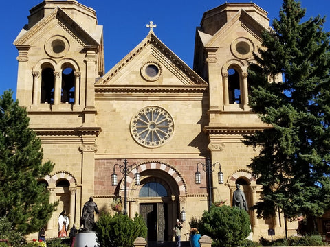 Cathedral Basilica of St. Francis of Assisi, Santa Fe, New Mexico.  Taken by Austin Bright Light Design