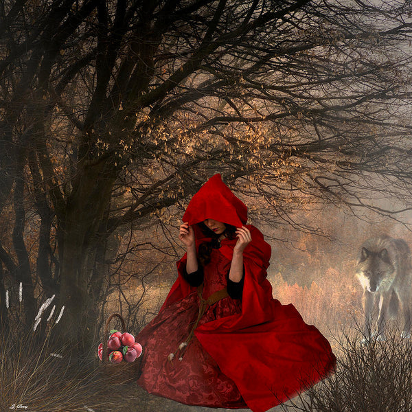 Little Red Riding Hood- Mixed Media by G Barry