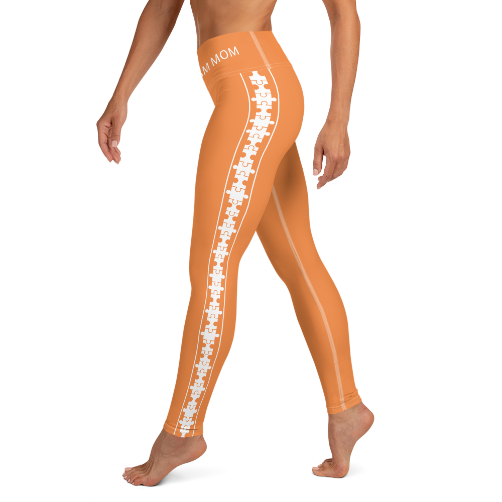 PUZZLE STRIPED LEGGINGS: ORANGE