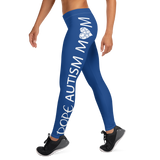 DOPE AUTISM MOM LEGGINGS: NAVY BLUE