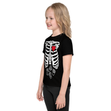 SKELETON  FAVORITE FOOD HALLOWEEN TEE: KIDS