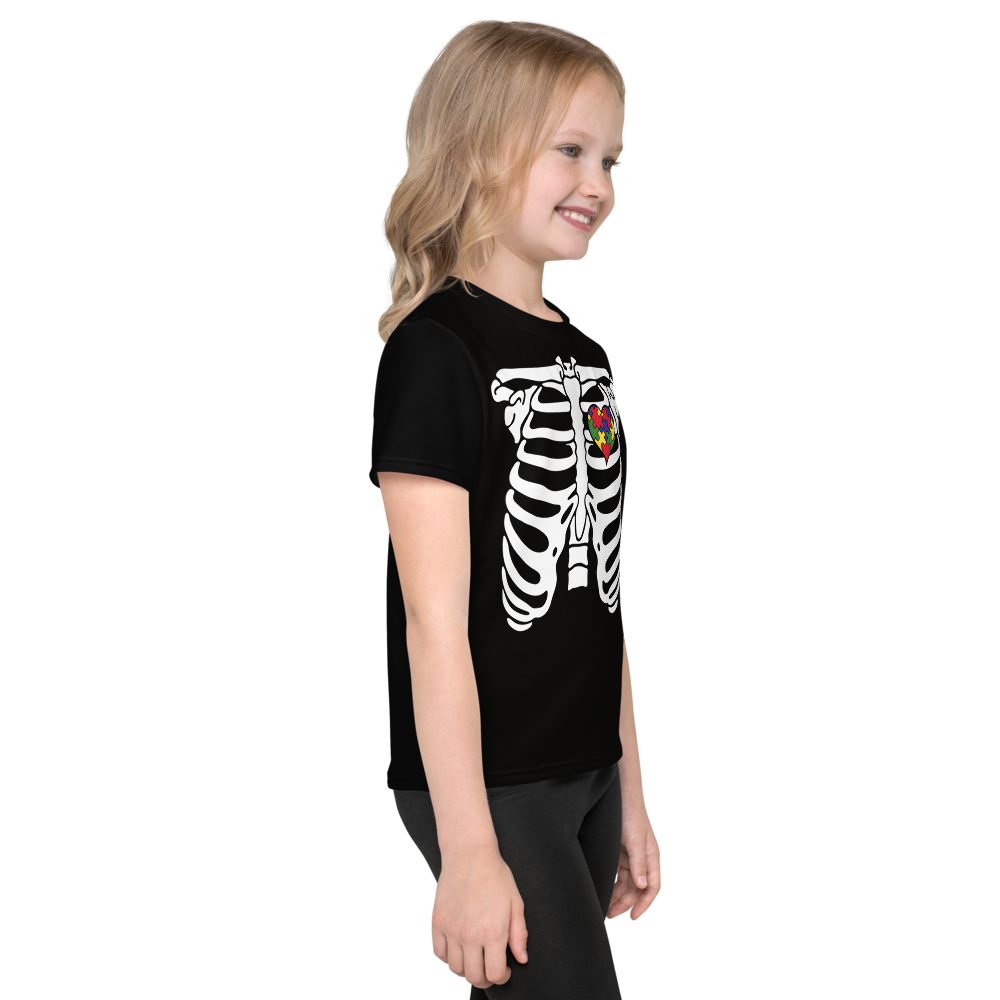 SKELETON PUZZLE HEART TEE: KIDS