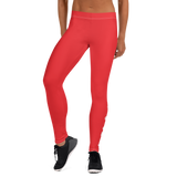 DOPE AUTISM MOM LEGGINGS: RED
