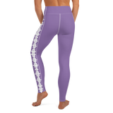 PUZZLE STRIPED LEGGINGS: PURPLE