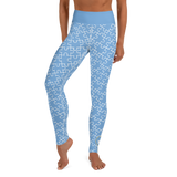 ALL OVER PUZZLE PIECE LEGGINGS: BABY BLUE