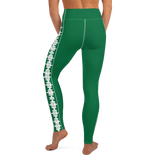 PUZZLE STRIPED LEGGINGS: GREEN