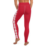 PUZZLE STRIPED LEGGINGS: RED