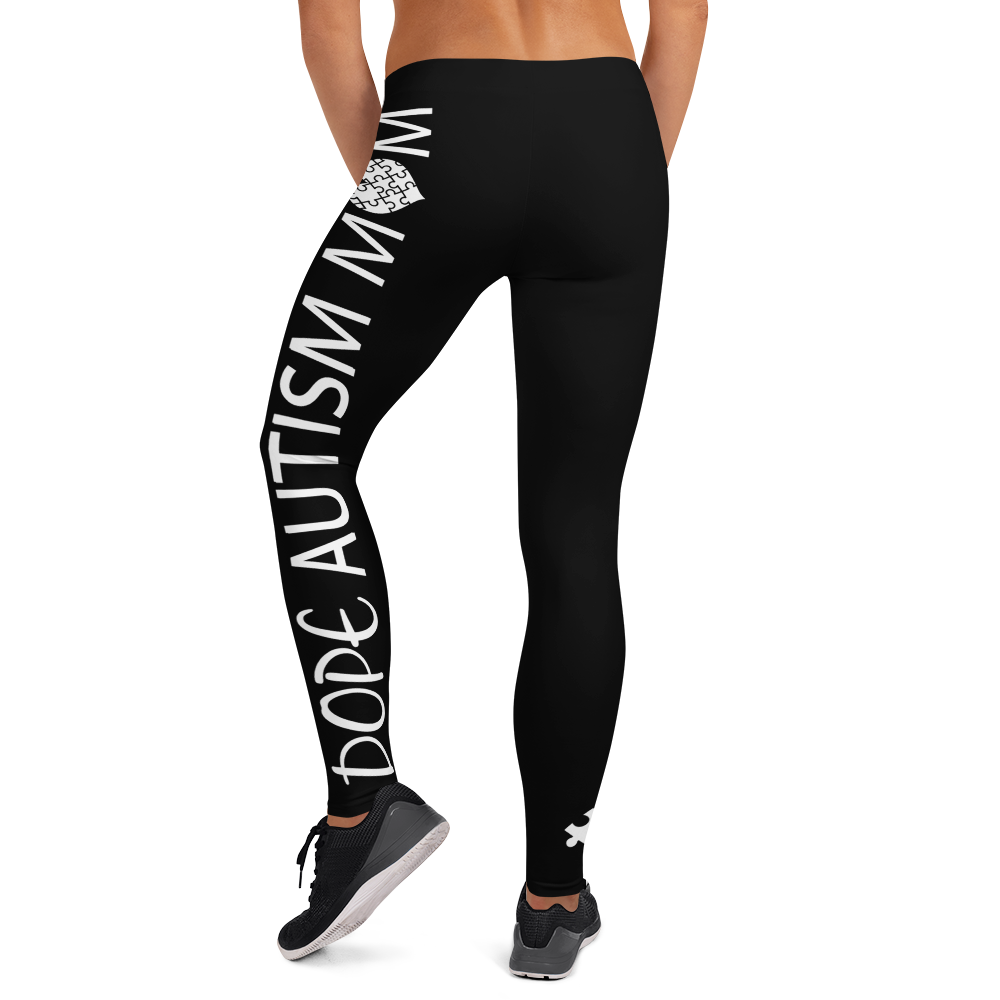 DOPE AUTISM MOM LEGGINGS: BLACK