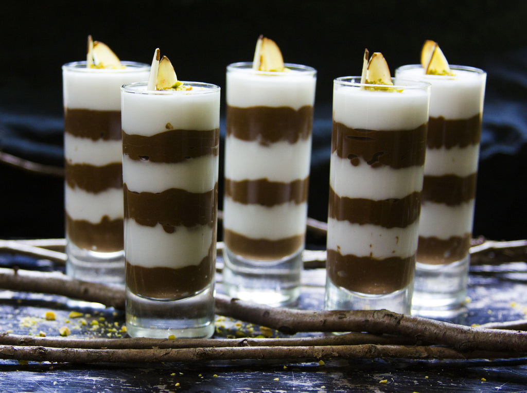 Vegan + Raw Dark Chocolate Mousse & Amaretto Cream Parfait