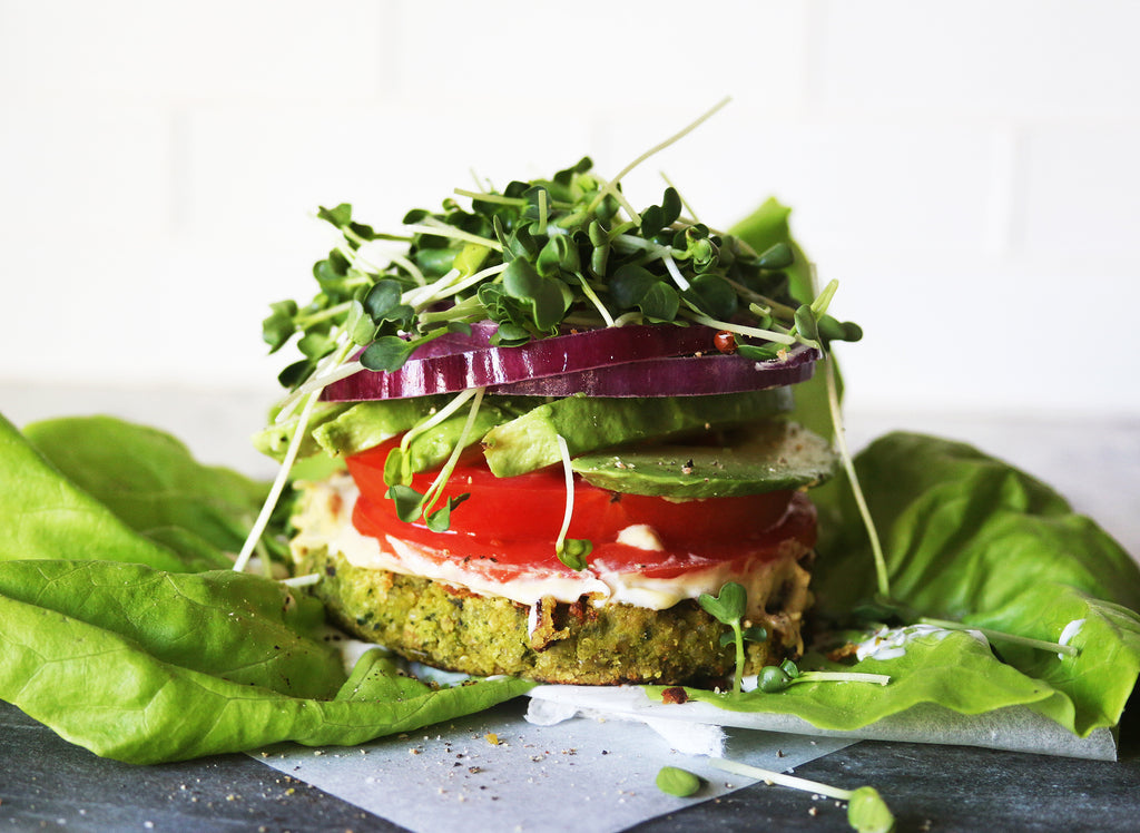 THE ULTIMATE GREEN VEGGIE BURGER