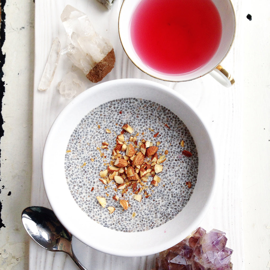 VANILLA CHIA PUDDING + CRUSHED TOASTED ALMONDS