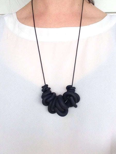 Black Swirl Necklace