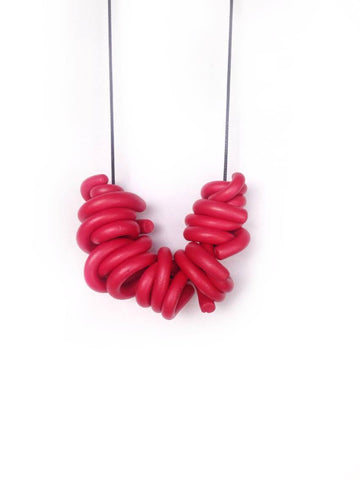 G. Red Swirl Necklace