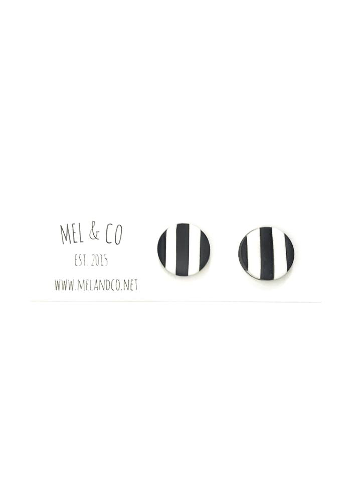 AFL Collingwood Magpies Earring Studs Sterling Silver