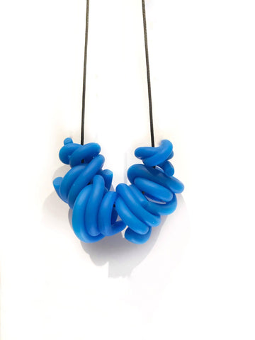 P. Jelly Blue Swirl Necklace