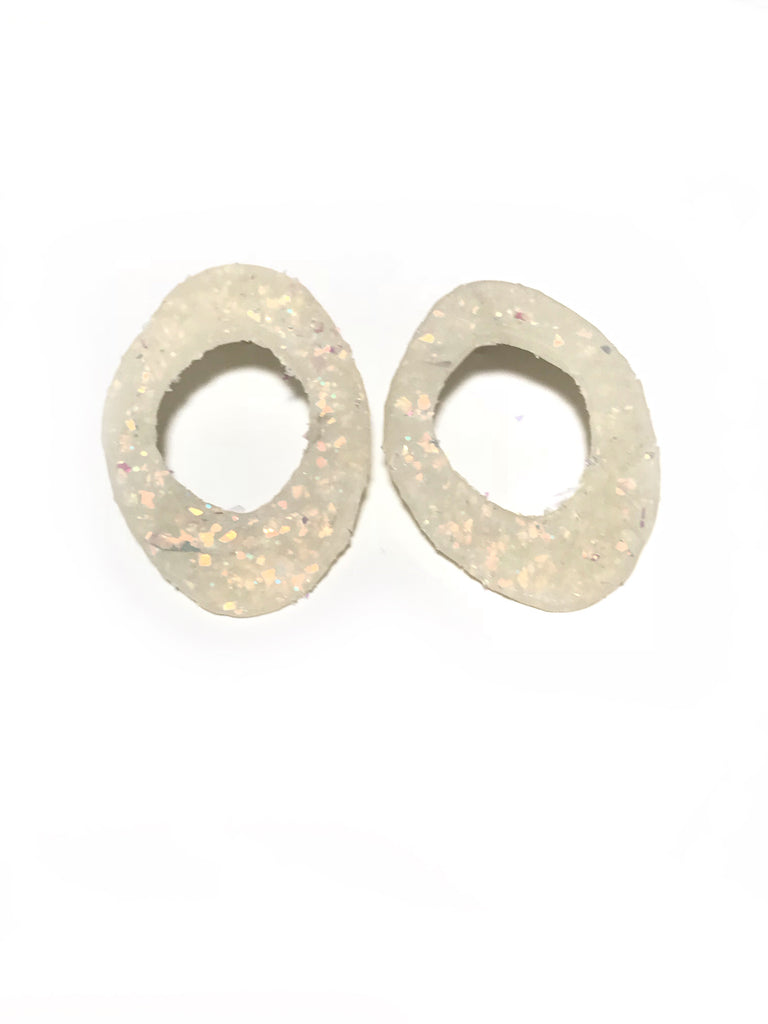 White Disco Flat Hoops