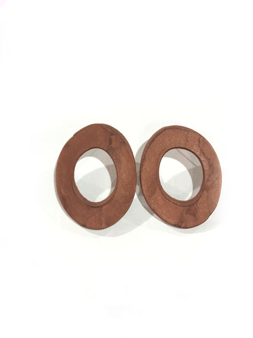 Copper Flat Hoops