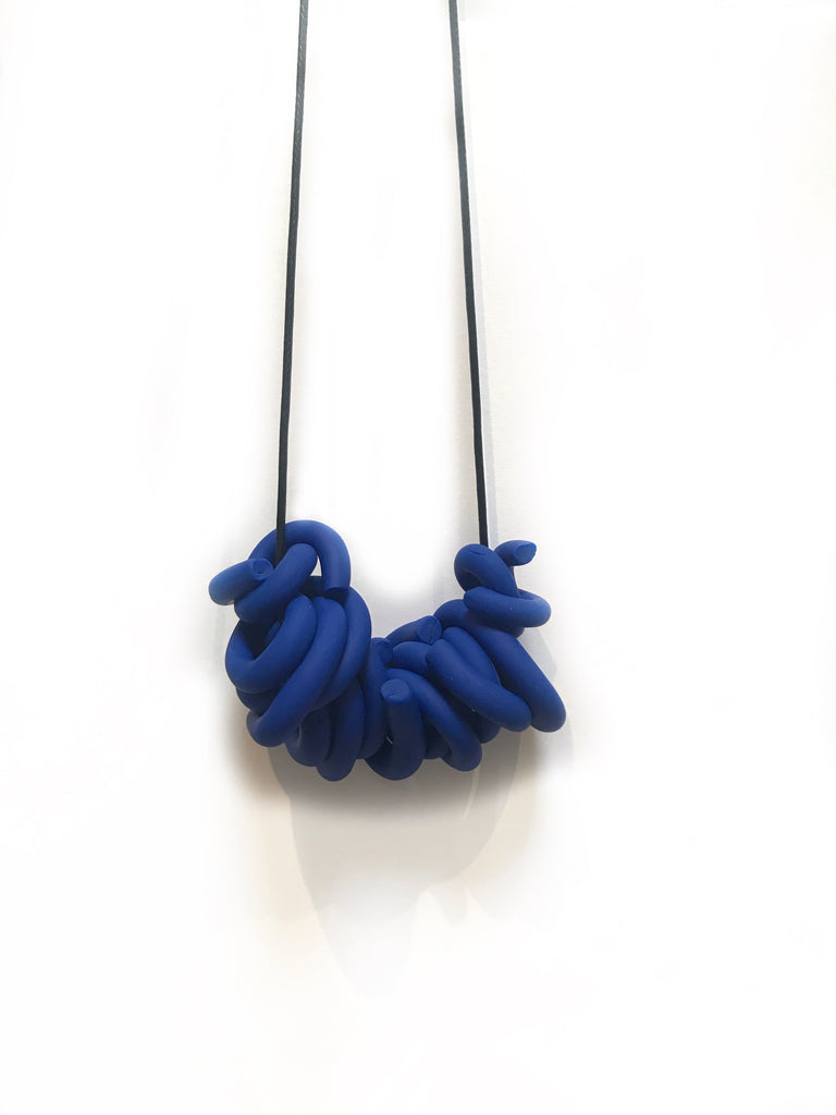 R. Royal Blue Swirl Necklace