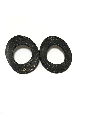 Black Disco Flat Hoops