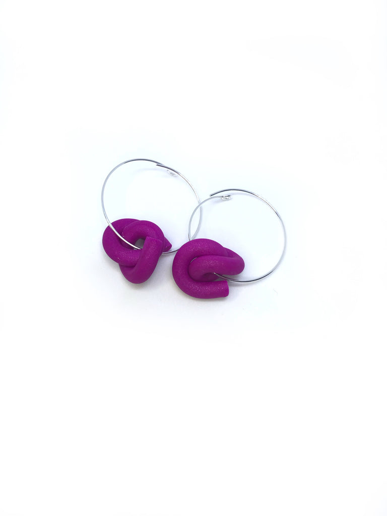 J. Shimmer Purple Swirl Hoops