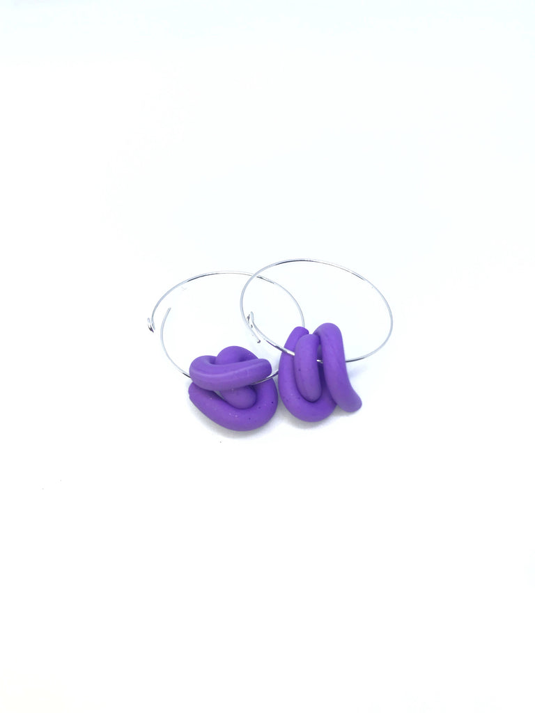 C. Purple Swirl Hoops
