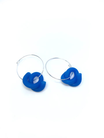 P. Jelly Blue Swirl Hoops