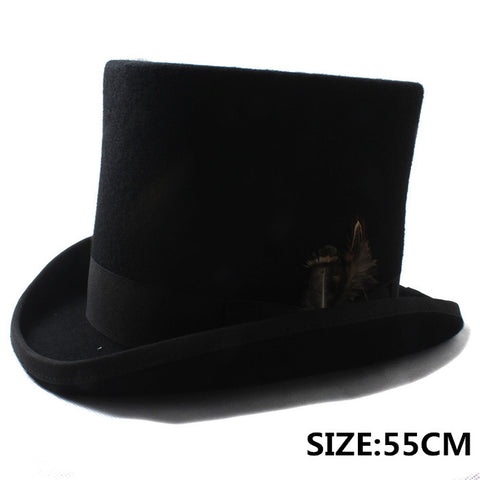 100% Wool Mad Hatter Victorian Church Hat In Black or White